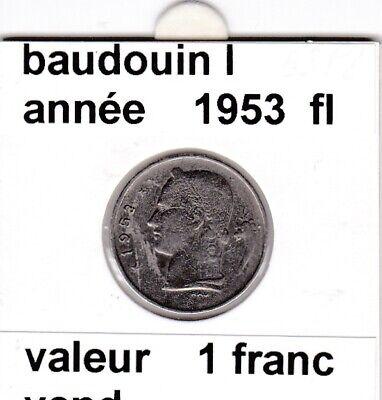 BF 3 )pieces de 1 francs  baudoui 1   1953  belgie &