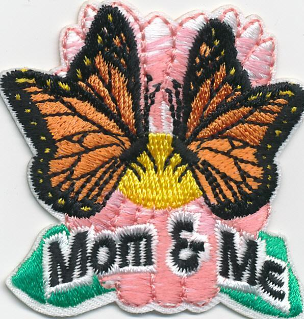 Girl Boy Cub MOM and ME & BUTTERFLIES Fun Patches Crests Badges SCOUT GUIDE