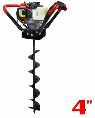 Xtremepowerus 1-person Post Hole Digger V-type 55cc 2 Stroke Gas One Man Auger