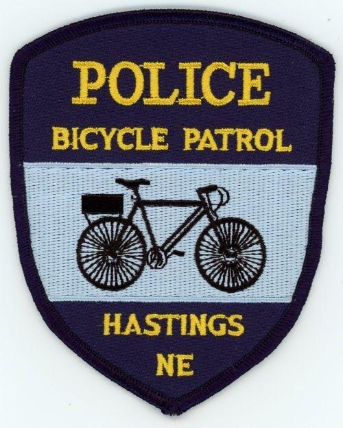 HASTINGS POLICE BICYCLE PATROL NEBRASKA NE PATCH SHERIFF