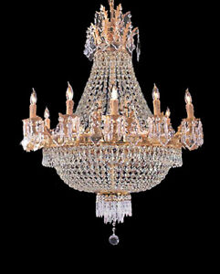 Gold crystal chandelier ebay french empire gold crystal chandelier lighting w25 aloadofball Image collections