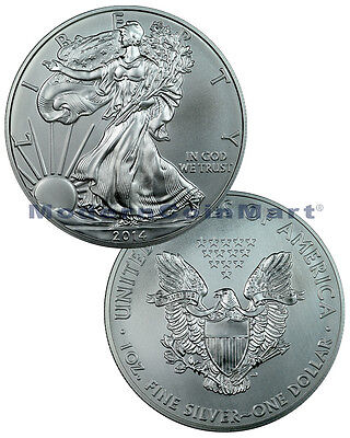 2014 1 Troy Oz .999 Fine Silver American Eagle $1 Coin SKU29721