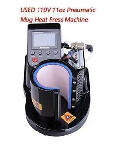 1set USED Pneumatic Mug Heat Press Machine DIY Sublimation Transfer Crafte