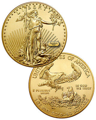 RANDOM DATE 1 Troy Oz Gold American Eagle $50 Coin --- SKU26177