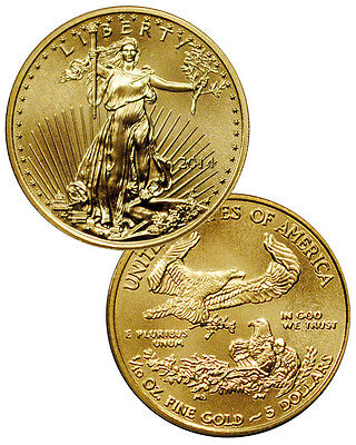 2014 1/10 Troy Oz Gold American Eagle $5 Coin - PRESALE SKU29730