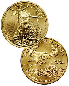 2014 1/10 Troy Oz Gold American Eagle $5 Coin SKU29730