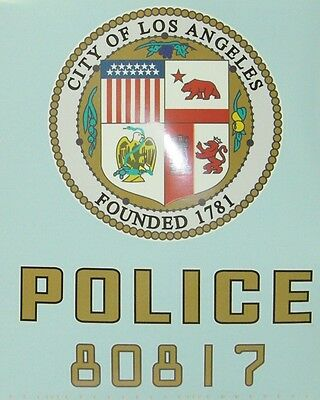 LAPD ADAM 12 Los Angeles Police Department Decal SET