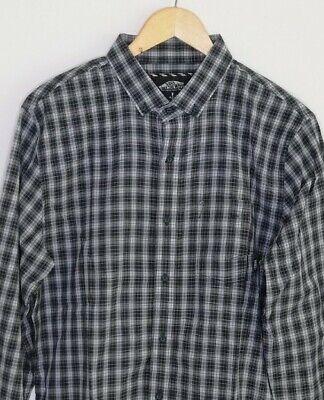 VANS X JOHNNY LAYTON Mens Green White Check Plaid Lumberjack Cotton Shirt Sz M