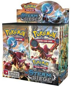 Genuine (real not fake) Pokemon Cards Steam Siege Booster packs Malvern Stonnington Area Preview