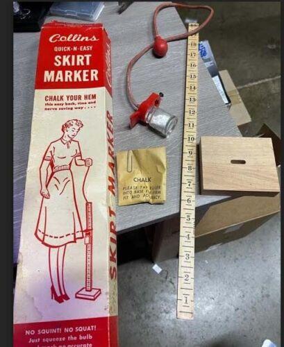 Collins Skirt Marker Vintage Dress Making Hem Measure No. 20 Original Box