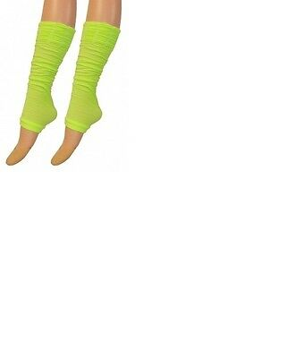 SEXY NEON YELLOW COLOUR ROUGE TOP LEG WARMERS.