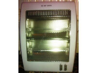 Portable mains 2 tube quartz 800w heater CAN POST OUT