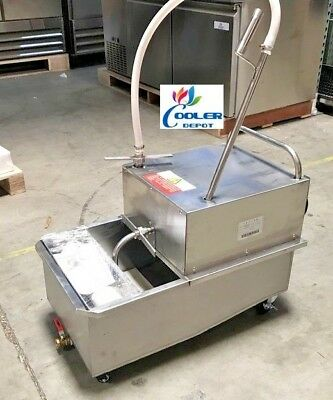 New 55 Lbs Portable Fryer Oil Filter Cart Machine Commercial Filtration System