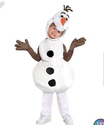 Disney Frozen Olaf Halloween Kostüm Kinder Kleine Größe 4-6