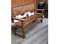 Hand made 5ft garden Bench