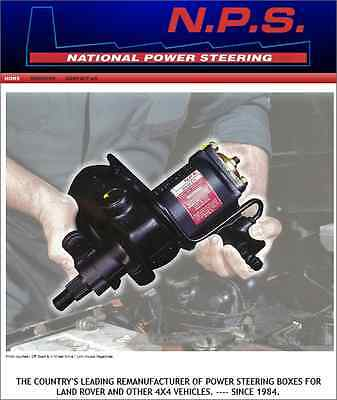 """Exchange Land Rover  """"6 Bolt Top"""" LHD Power Steering Box With Droparm NTC1583E"""
