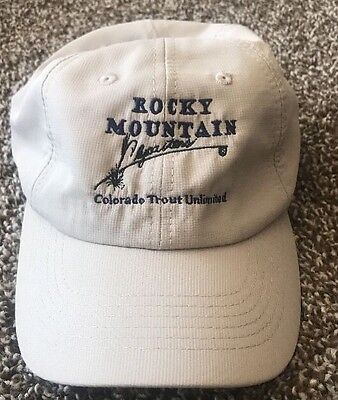 Rocky Mountain Colorado Trout Fishing Fly Rod Men's Baseball Cap Hat