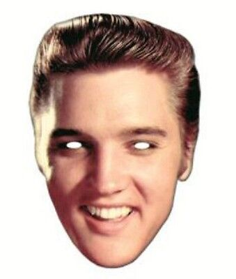 Elvis Presley Single 2D Card Fun Face Mask - Great for Hollywood Themed Parties](Hollywood Themes For Parties)