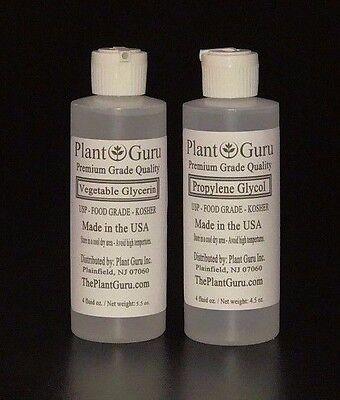 Vegetable Glycerin   Propylene Glycol Pg Vg Non Gmo Food Grade 4 Oz  Each