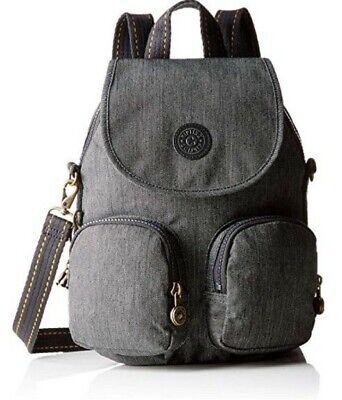 NEW Kipling firefly backpack convertible bag black Indigo Rrp £93