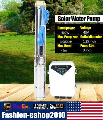 3 Zoll 400w Dc Solar Water Pump Deep Well Submersible Garde Pumpmppt Controller