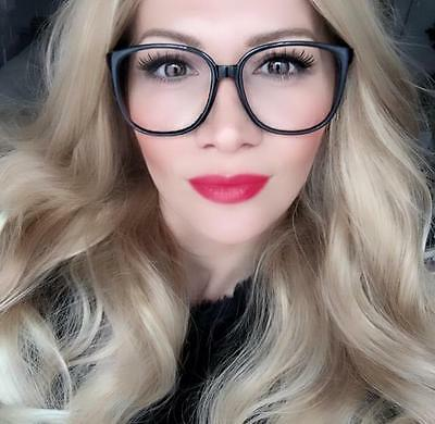 Sexy Women Thin Square Frames Clear Lens Smart Big Hot Fashion Eyeglasses (Square Glasses Frames For Women)
