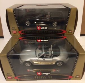 DIE CAST 1:24 SCALE BMW AND CORVETTE MADE IN ITALY