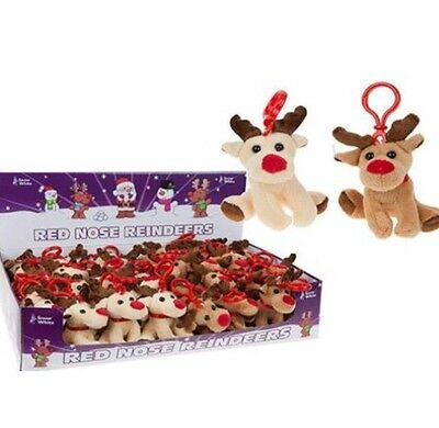 Job Lot Of 48 Christmas Soft Toy Red Nose Reindeers FREE POSTAGE