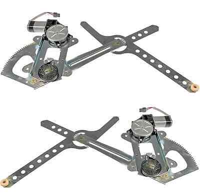 98 1998 Silverado 1500 2500 3500 Front Power Window Regulator w/ Motor Pair Set