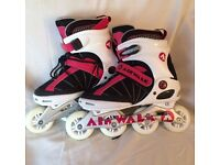 A Pair of Girls AirWalk Roller Blades, Used Once! UK Size 6
