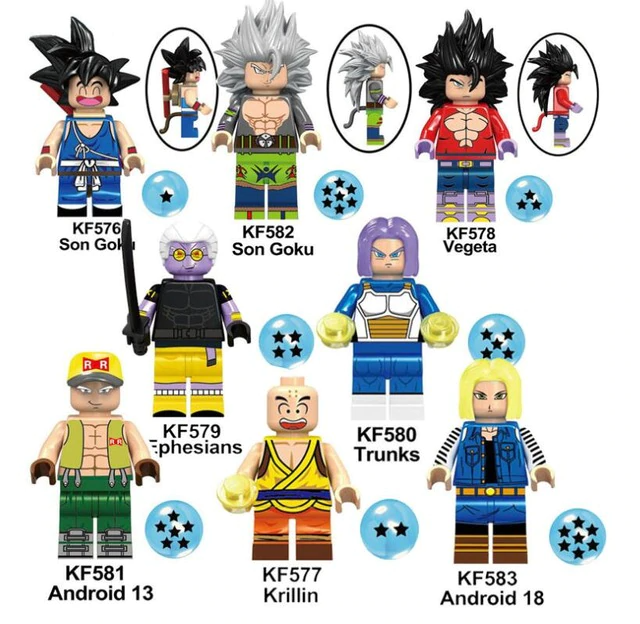 Count:8pcs-2:32pcs Dragon Ball Z Action Figure Super Goku Building Blocks For Lego Toy Heroes