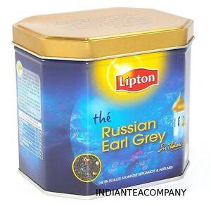 Lipton Russian Earl Grey Loose Tea Tin with Real Tea Leaves