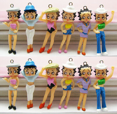 12 pieces Betty Boop Charm Pendant Gifts BB918 Wholesale ()