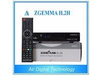 Original ZGEMMA H.2H Combo HD Receiver Dual Core Linux OS DVB-S2 + Hybrid DVB-T2 for sale  London