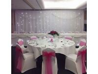 Wedding Chair Covers With Organza Sash Just £1.50 Includes Full Set up!