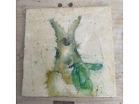 Rabbit Tile ' The Nibbler' Worktop Saver / Cheeseboard / Chopping Board Kate of Kensington