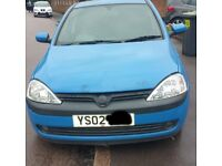 Vauxhall Corsa Bonnet In Blue Breaking For Parts (2002)
