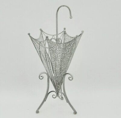 Lead Colour Vintage Style Umbrella Stand Hallway Decoration Grey