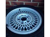 "Genuine E34, 5 Series BMW Alloy Wheel 15"" 7Jx15H2, 5 studs"