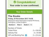 Kooks tickets - Nottingham - 24/11/17