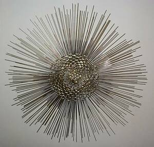 "Large (29"") Brutalist Two Tier Starburst Wall Sculpture"