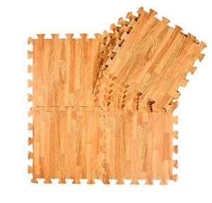 Kids Foam Play Mats Wood Grain (FREE SHIPPING AVAILABLE)