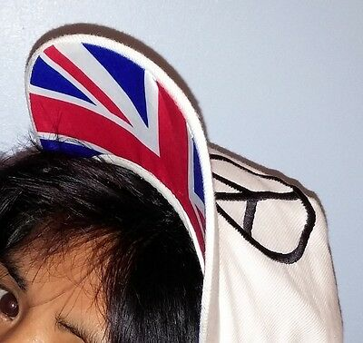 Union Jack Peace Sign Black White Red Blue Hat Cap Summer Heat Wave Stay Cool UK