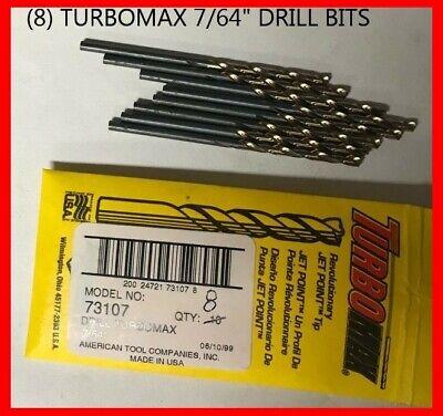 Bulk Irwin 73107 7//64 inch Turbomax High Speed Steel Drill Bits