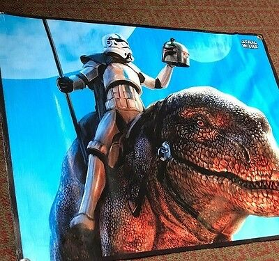 Star Wars boba fett helmet banner figure  poster rogue one dewback storm trooper