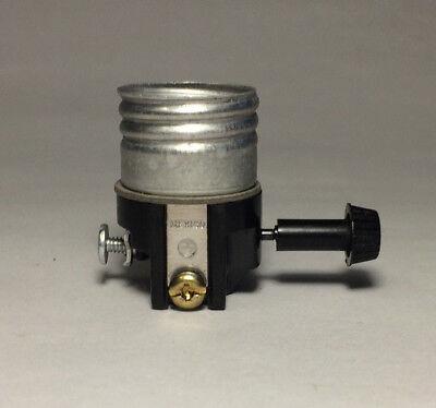 Leviton 3 Terminal Turn Knob Lamp Socket Interior for Wiring Bottom Light Bulb Bottom Turn Knob Socket