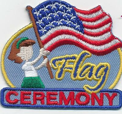 Junior Badges (Girl FLAG CEREMONY American Fun Patches Crests Badges SCOUT GUIDE Junior)