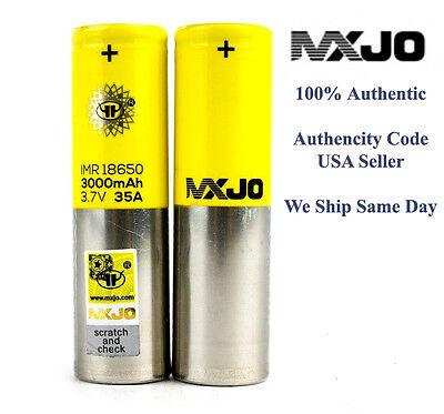 (2) MXJO 18650 Battery IMR 3000 MAH 35A 3.7V High Drain USA SELLER 100% REAL