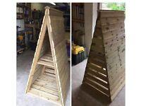 Brand new triangular log store