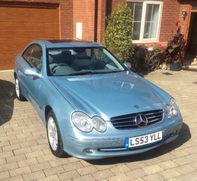 Mercedes CLK 320 Avantgarde Auto. Light Blue Metallic